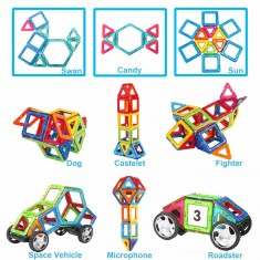 46PCS Magnetic Building Blocks Children Toys Bricks Construction Magnetic Designer Toys Model Build kits Toys For Children Kids